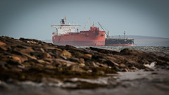 Another Transfer (MBDGE >1.5 Million Views) Tags: tanker ship oilandgas sts shiptoship crude oil rocks scotland scapaflow anchor sheltered money industry canon bay harbour marine anothertransfer heatherknutsen iseprincess outside dof depth explore grey blue sky cloud red boat sea ocean
