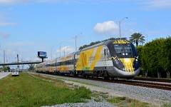 Brightline 101 South Bound. North Miami, Fl (bobchesarek) Tags: brightline railroad trains locomotive passengertrain miami florida brightlineorangetrain