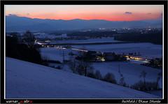 01-19 9201A_Blaue Stunde (werner_austria) Tags: winter abend blauestunde licht abendrot schnee landschaft aichfeld styria austria bluehour