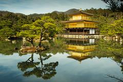 Kinkaku-ji (Walter Quirtmair) Tags: ifttt 500px golden palace temple kinkakuji quirtmair japan lake pond water tree reflection sky blue gold