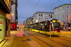 France - Brest - rue Jean Jaurès (andrei.leontev) Tags: france frankreich levédesoleil sunrise bretagne brest finistère finistere jeanjaurès rue