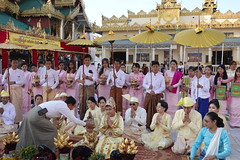 Ordination ceremony for novice Buddhist monks, Shwedagon Pagoda, Yangon (20) (Prof. Mortel) Tags: myanmar burma yangon rangoon buddhist pagoda shwedagon monks