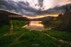Almost overflowed (Alex Apostolopoulos) Tags: bulb dam landscape landscapephotography longexposure sunset water clouds nature sky
