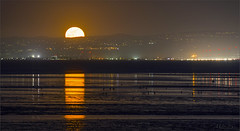 The Rising Moon Prepares to Light Up SF Bay (milton sun) Tags: moonrise coyotepointpark burlingame california sfbay dusk seascape bay ngc bayarea wave ocean shore seaside coast landscape outdoor clouds sky water rock mountain rollinghills sea sand beach cliff nature moonlight fullmoon wetlands sanmateobridge