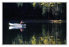 Casting a Line in the Colorado Rockies - 1991 (sjb4photos) Tags: colorado coloradorockies fisherman pond autumn epsonv500