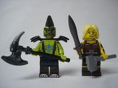 Warriors tests (fdsm0376) Tags: ork berserker barbarian castle lego minifigure