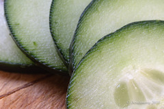 Cut Cucumbers (Desdanova) Tags: green macro oddnumbers fruit macromondays stockton california unitedstates us