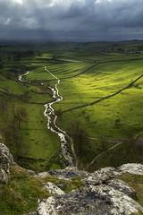 Malham (l4ts) Tags: landscape yorkshire yorkshiredales malham malhamcove limestone riveraire drystonewalls crepuscularrays