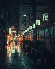 R U N   R U N   R U N (Laser Kola) Tags: runningman lostinosaka raining rain shiny cyberpunk bladerunner 35mm fujifilm x100s explorejapan streetphotography moody cinematic citynight citylights nightlife nightphotography neonoir neon retrofuture laserkola lasseerkola urban