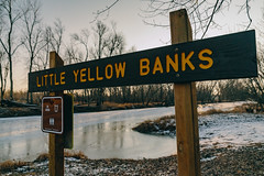 Little Yellow Banks on the St. Croix River, Minnesota (Tony Webster) Tags: littleyellowbanks minnesota saintcroixriver saintcroixstatepark stcroixriver stcroixstatepark wisconsin river riverlanding sign signage snow statepark winter crosbytownship unitedstates us