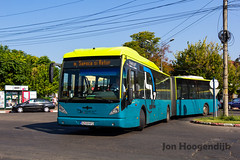 Buzau 2018 (Romania) (Jon Hoogendijk) Tags: van hool new ag300 gvu gemeentelijk vervoersbedrijf utrecht almere 2e leven oude lijnbus roemenië connexxion public transport buzau transbus