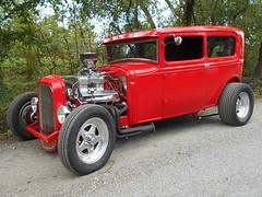 1930-31 Ford Model A Tudor (splattergraphics) Tags: 1930 1931 ford modela tudor hotrod customcar carshow karbkings mobtowngreaseball edgemeremd