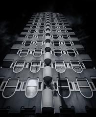 Blaaktoren (Jack Landau) Tags: blaaktoren rotterdam het potlood architecture monochrome silver fx silverfx silverefx bw black white tower concrete building jack landau canon 5d
