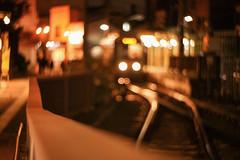 三ノ輪橋 残光 (sunuq) Tags: toden 都電 japan 日本 canon eos 5dsr ペッツバール ロモグラフィ lomography zenit petzval 三ノ輪橋 ボケ bokeh 鉄道