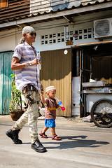 On their way to the mosque (Goran Bangkok) Tags: bangkok thailand muslim islam man boy walking streetphotography street fuji fujifilm