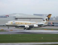 Etihad                                 Airbus A380                                  A6-APH (Flame1958) Tags: etihad etihada380 airbus a380 a6aph londonheathrow heathrowairport heathrow lhr egll 041218 1218 2018 travel vacation holiday airport aeroplane aircraft 4185 yearofzayed 2018yearofzayed