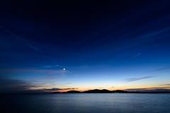 三日月ーCrescent Moon (kurumaebi) Tags: yamaguchi 秋穂 山口市 nikon d750 nature landscape 雲 cloud autumn 秋 sky 空 moon 月 dusk 残照
