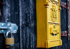 Locked (davidheath01) Tags: nikonflickraward photographer photograph depthoffield dof abandoned timber wood padlock yellow color colour black locked lock d850 nikon
