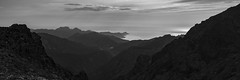 And the Mountain met the Sea (Aphélie) Tags: moutain sea bw corsica black white