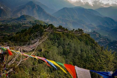 Derrière Namo Buddha - Nepal