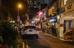 Bali Lane Night (henriksundholm.com) Tags: city urban night car vehicle balilane street road lane bar balisangels sign parking parked shadow kampongglam mailbox trees lights lamps signs advertisement pubs hdr singapore southeast asia