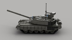t90ms main battle tank (V4)3 (demitriusgaouette9991) Tags: lego military ldd army armored powerful tank turret railgun russian whitebackground lmg vehicle deadly destroyer