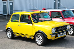 1980 1275GT Mini FVA874W Brands Hatch Mini Festival 2018 (davidseall) Tags: 1980 1275gt 1275 gt mini clubman front fva874w fva 874w car yellow old shape style classic original brands hatch festival 2018