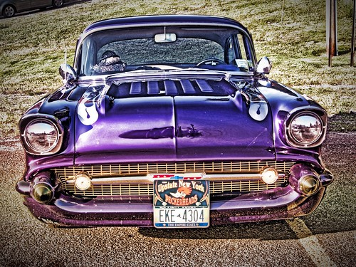 Classic Car Show Event - Phoenix  New York - Oswego County - Custom Chevy  2 Door -  HDR