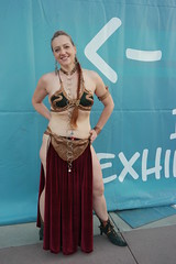 SDCC 2018 - 1593 (Photography by J Krolak) Tags: costume cosplay masquerade comicconvention sdcc2018 leia princessleia slaveleia leiasmetalbikini