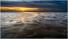 Maasvlakte sunset (Rob Schop) Tags: beach maasvlakte zee sonya6000 samyang12mmf20 wideangle texture f11 sunset pola hoyaprofilters zuidholland seascape