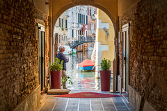 (Clint Everett) Tags: streetphotography venice italy fall street urban contemplation framed man solo thinking solitude contemplate city canal
