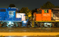 Yard Partners (Joseph Bishop) Tags: gmtx 2277 emd gp382 cn 9675 gp402w brantford cndundassubdivision trains train track tracks railfan railroad railway rail rails