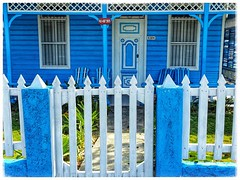 White Picket Fence (plismo) Tags: varadero matanzas cuba house blue oldhouse old fence whitepicket whitepicketfence 4304 street plismo