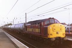 EW&S 37801 (bobbyblack51) Tags: british railways ews class 377 english electric coco diesel locomotive 37801 barassie station 1997