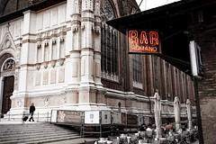 bar romano bologna scot mcfiggen at flickr (A Scot in Italy) Tags: bologna piazza maggiore cafe postcard italy italia vintage
