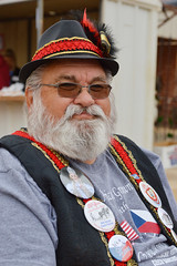Dressed for the day (radargeek) Tags: yukon oklahoma 2018 october czechfest parade buttons czech hat sunglasses portrait beard