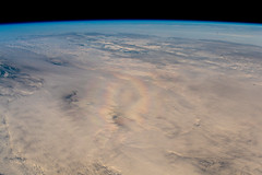 Astronaut's glory (europeanspaceagency) Tags: glorie glory rainbow suneffect tweeted earth earthfromspace alexandergerst asim clouds iss internationalspacestation esa europeanspaceagency space universe cosmos spacescience science spacetechnology tech technology horizons horizonsmissions humanspaceflight astronaut astronauts aurora