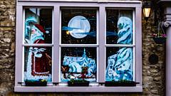 Santa's leaving.jpg (Nigel Crooks) Tags: general painted window santa snowscene settle goldenlion