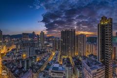 Sunrise with heap cloud - Hung Hom, Kowloon (kenneth chin) Tags: oldbuilding kowlooneast 日出 红磡 nikon d850 nikkor fisheye 16mm hongkong kowloon axis sunrise cloud building yahoo google matauwai city cityscape