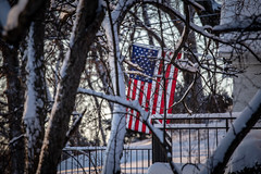 More Snow (Phil Roeder) Tags: desmoines iowa snow winter nature weather canon6d canonef70200mmf4lusm flag usflag