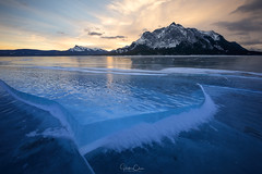 Upheaval (Hilton Chen) Tags: canadianrockies sunrise winter alberta snow abrahamlake canada landscape icecracks mountmichener northsaskatchewanriver clearwatercounty ca
