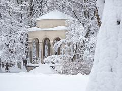Winter in München (bayernphoto) Tags: winter schnee muenchen munich bayern bavaria ostfriedhof friedhof cementry snow kalt cold massen schneemassen weiss eis ice baum grab engel statue saeule