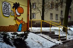 Funny graffiti - Szwedzki (ChemiQ81) Tags: polska poland polen polish polsko chemiq польша poljska polonia lengyelországban польща polanya polija lenkija ポーランド pólland pholainn פולין πολωνία pologne puola poola pollando 波兰 полша польшча outdoor widok zima katowice śląsk silesia schlesien slezsko szwedzki art streetart graffitti grafitti painting drawing