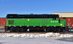 NLR GP15-1 No. 422 in Kansas City, MO (Grant G.) Tags: bnsf bn slsf cnw nlr northern lines railroad railway locomotive train trains power emd engine burlington frisco kansas city missouri