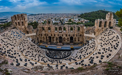 Odeon of Herodes Atticus Theater (Ron Harbin Photography) Tags: greece landscape antiquities summer travel visit travelgram sea travelling holiday sun night dark theater amphitheater architecture picoftheday bluesky sky minimal summeringreece blue mediteranean beautiful travelpics travelphtography greecelover love athens like greek instagood photography life view photooftheday music play act acting ancient stone ruins marble outdoor panorama theatre monument pano antiquity world heritage archeology archaeology archaeological