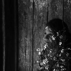 Flores en ojos de luz (Memo Vasquez) Tags: floresenojosdeluz retrato portrait cara rostro face mirada retratoenblancoynegro bwportrait bnw niñasyniñosindígenas niñasyniñosindígenasdesonora pimas sonora méxico memovasquez
