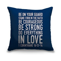 1 Corinthians 16 13 14 Scripture Art In White And Navy - Handlettered Bible verse reading Be on your guard; stand firm in faith; be courageous; be strong, do everything in love.   Check out our website: https://spaceplug.com/1-corinthians-16-13-14-scriptu (spaceplug) Tags: photooftheday bible canvas shop marketplace mood spaceplug like buy sell like4like photo home products followus decor pillow canvasdemand photography follow4follow