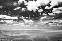 Open Space (vmonk65) Tags: nikond810 nikon sw sky bw blackwhite blackandwhite beach clouds sea water himmel wolken strand