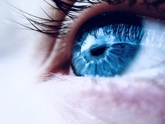 I can see clearly....xx (shona.2) Tags: blueeye iphone6 lady woman lashes blue eye hss selfiesunday