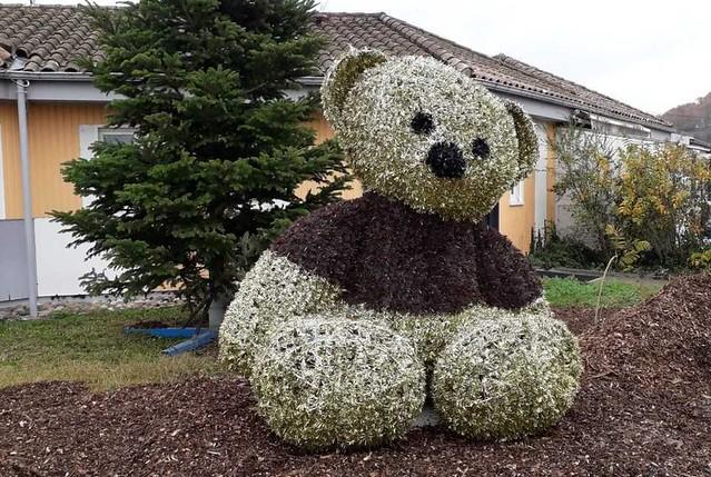 Décoration de Noël : Un nounours géant !deco-noel-ccas